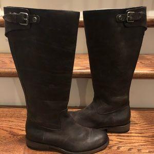 Frye Jayden slate brown leather boots sz 7.5 new